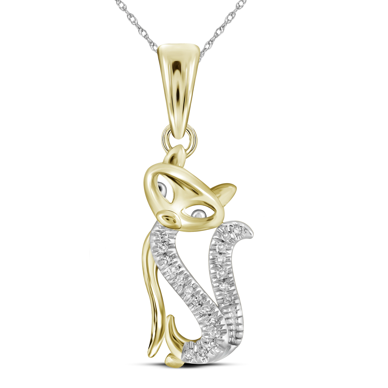 0a51c79afb8c7 Pendant Cat gold Yellow 10K 0.05 with Diamonds CT srhc175457065 ...