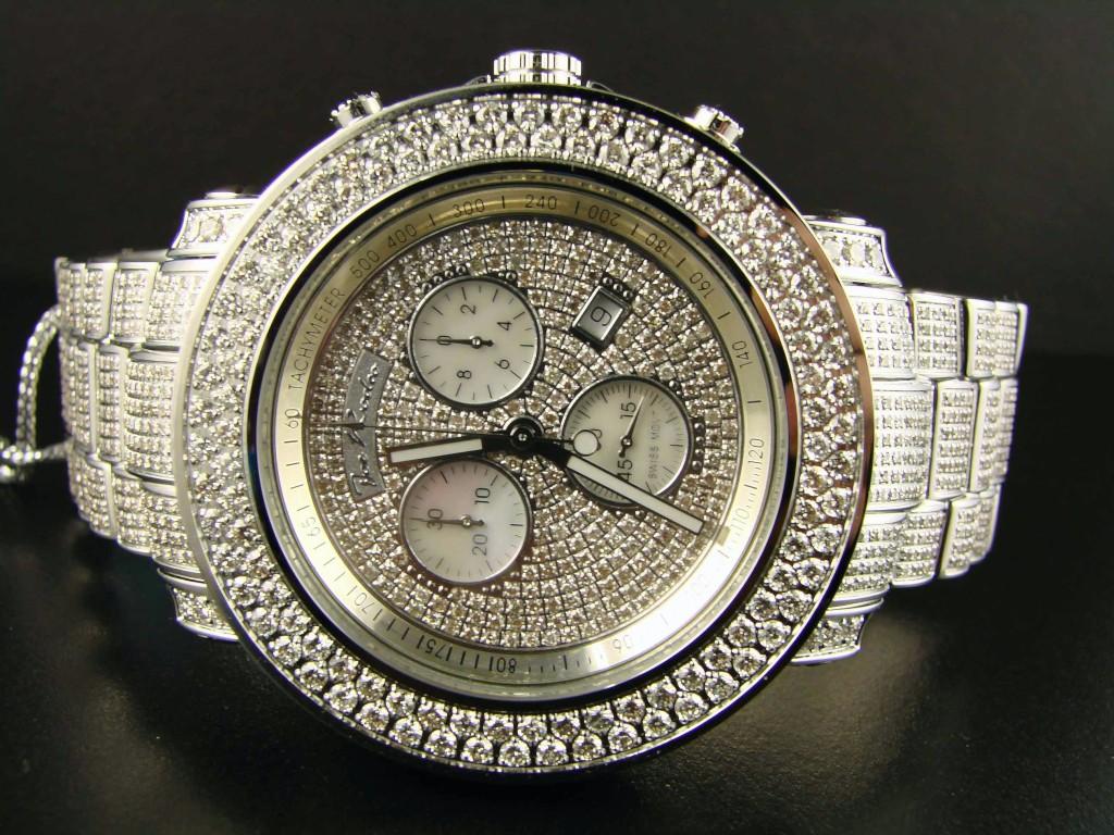 Mens 19 25 Ct Full Joe Rodeo Junior Diamond Watch Jju36 Ebay