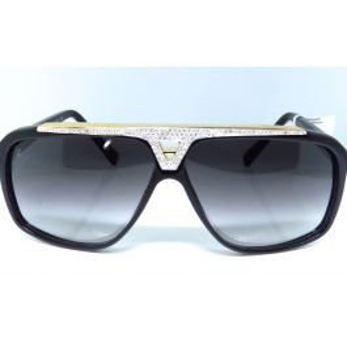 4ec579737b98 Louis Vuitton Diamond Aviator Sunglasses Evidence Black   Gold Z0350W 2.50  Ct.