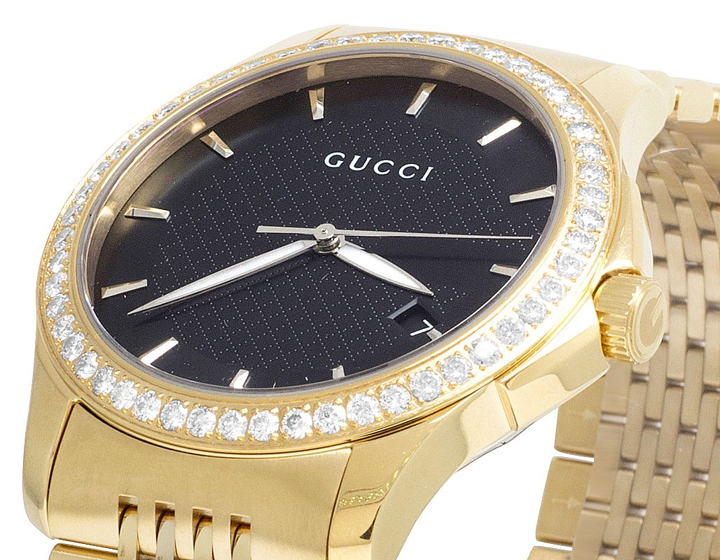 6e46db64826 Mens Gucci G-Timeless YA126402 38MM Diamond Watch 2.0 Ct