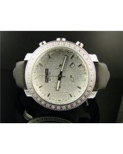 Jojo by Joe Rodeo Treasure White Gold Finish Diamond Watch .36 Ct