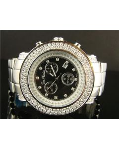 Joe Rodeo Junior Black Dial Diamond Watch JJU118 (6.75 Ct)