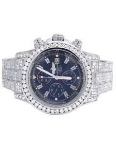 Custom Breitling A13370 Super Avenger 48MM Iced Out Diamond Watch 23.0 Ct