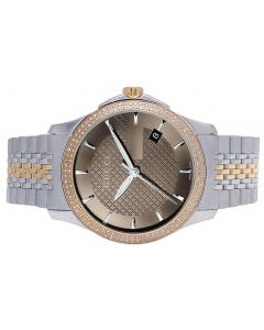 Unisex G-Timeless Gucci Two Tone 38MM Diamond Watch 1.5 Ct