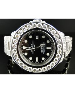 Rolex Sea-Dweller Deepsea Custom 26ct Diamond Watch