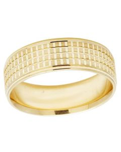 14K Yellow Gold Mens Ladies Comfort Fit Wedding Band Ring 7MM