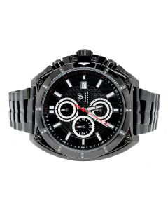 Black Aqua Master Chrono Stainless Steel Diamond Watch