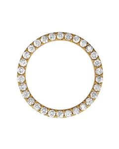 Solid Gold Prong Set Diamond Bezel for Mens 36 MM Rolex President or Datejust (4.65 ct)