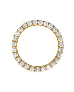 Solid Gold Prong Set Diamond Bezel for Mens 36 MM Rolex President or Datejust (6.75 ct)