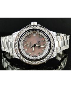 Brand New Ladies Breitling Aeromarine Pink Colt Ocean Diamond Watch 9.5 Ct