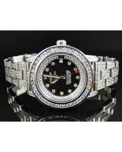 Custom Ladies Breitling Aeromarine Colt 33 Diamond Watch
