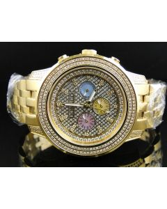 Custom Chrono Don & Co Full Diamond Watch (3.5 Ct)