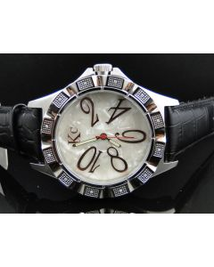 Techno Com KC White Mother of Pearl Diamond Watch