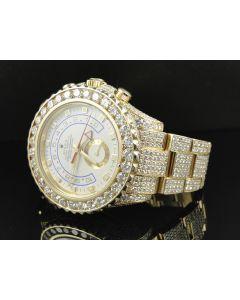 18k Yellow Gold Rolex Yatchmaster ii with 36 Ct Diamond
