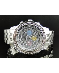 Chrono Don & Co Full Case Diamond Watch R8079 (3.5 Ct)