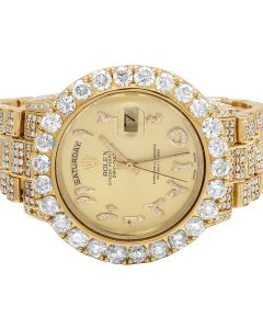 Rolex 18K Yellow Gold Day-Date 36MM President 18038 Diamond Watch 26.75 Ct
