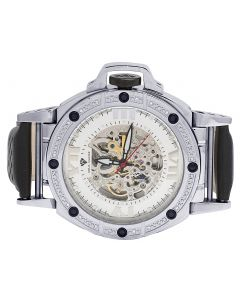 Aqua Master 48MM Skeleton Automatic Diamond Watch W#331 0.24 Ct