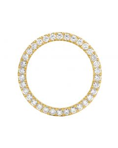Solid 14K Yellow Gold Diamond Bezel for Rolex 40MM / 41MM 5.1 Ct