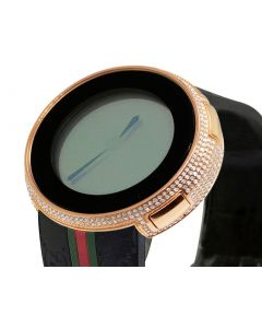 I-Gucci Digital Black Rose Steel Diamond Watch 4.0 Ct YA114207