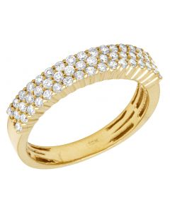10K Yellow Gold 1 CT Diamond 5MM Wedding Band Ring