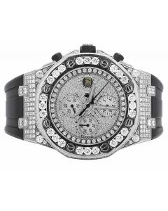Mens 42 MM Audemars Piguet Royal Oak Offshore Stainless Steel Diamond (15.5 Ct)