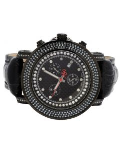 Mens Joe Rodeo Junior JJU3 Black PVD 50MM Diamond Watch 2.5 Ct