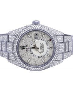 Rolex Sky Dweller 42MM Steel 326934 Diamond Watch 29.75 Ct