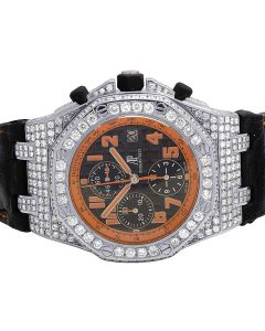 Mens 42 MM Audemars Piguet Royal Oak Offshore Volcano Diamond Watch (12.5 Ct)