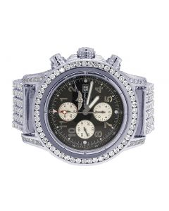 Breitling Super Avenger A13370 50MM Diamond Watch 25 Ct