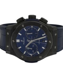 Mens Hublot Classic Fusion Chrono 45MM Blue Ceramic Automatic Watch
