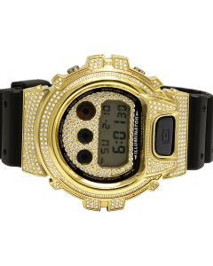 Casio G-Shock 6900 Gold Plated White Diamond Watch 3.0 Ct