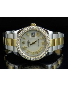 Rolex Datejust II 116333 Watch W/ Custom Set Diamond Watch (6.9 Ct)