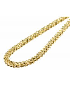 14K Yellow Gold 5MM Hollow Franco Chain Necklace 22-30 Inches