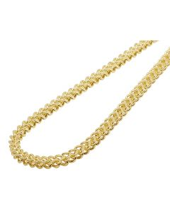 14K Yellow Gold 4.5MM Hollow Franco Chain Necklace 22-30 Inches