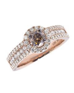 14k Rose Gold Brown Solitaire Diamond Engagement Ring (1.65 ct)