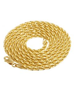 10K Yellow Gold 3MM Tuscany Rope Chain 22-24 Inches