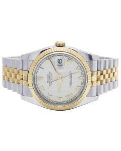 Rolex Datejust 116233 18K/ Steel 36MM Concealed Clasp Fluted Bezel Watch