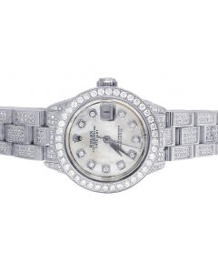 Ladies Rolex Datejust 26MM Stainless Steel Diamond Watch 6.0 Ct