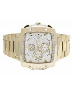Mens Aqua Master 51MM S.Steel White Dial Diamond Watch W#354 0.28 Ct
