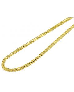 10K Yellow Gold Solid Diamond Cut Franco Chain 4MM 18-30 Inches