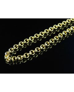 Men's 10K Yellow Gold Hollow Rolo Chain 3mm