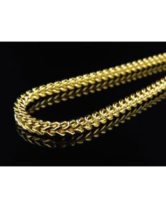 10k Yellow Gold 3.5 MM Franco Chain Necklace 24-40 Inch