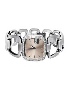 Ladies Gucci YA125402 Champagne Dial Diamond Dress Watch (2.0ct.)