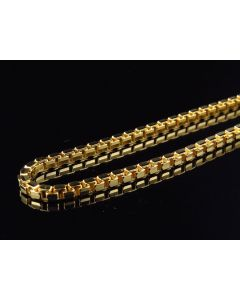 Solid 10K Yellow Gold Box Style 2.5MM Chain Necklace 24-30 Inch