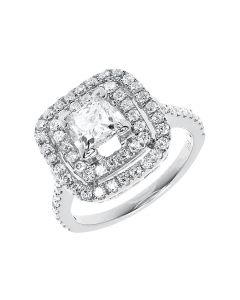 Princess Diamond Solitaire Engagement Ring in 14k White Gold (2.50 ct)
