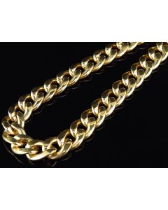 10K Yellow Gold Miami Cuban Link 8MM Chain Necklace 24-36 Inches