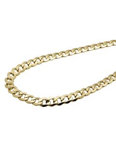 10K Yellow Gold Hollow Curb Cuban Link 8MM Chain 18-36""