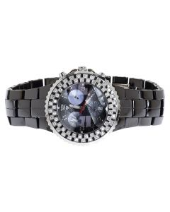 Ladies Aqua Master 1.25ct Diamond Black Ceramic 40mm Watch W#115