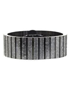 Black Ion Stainless Steel Bracelet with Diamonds (8 ct)