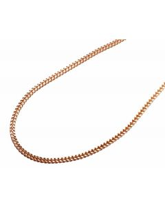 10K Rose Gold 2MM Hollow Franco Box Link Chain Necklace 22-30 Inches